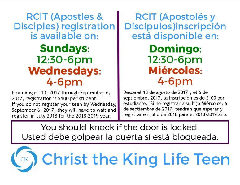 RCIT register door _SIGN
